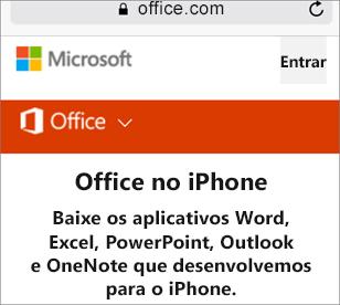 Vá para o Office.com