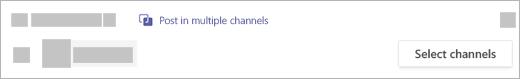 Poste uma conversa ou anúncio para vários canais.