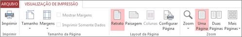 Comandos de Visualização de Impressão