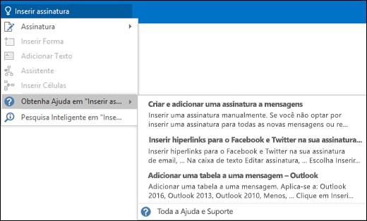 Digite o que você gostaria de fazer na caixa Diga-me no Outlook para obter ajuda com essa tarefa.