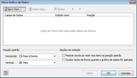 A caixa de diálogo Novo Gráfico de Dados.