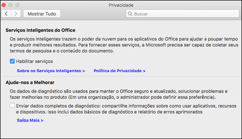 Habilitar o Featues inteligente no Mac