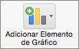 Na guia Design de Gráfico, selecione Adicionar Elemento Gráfico