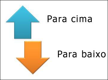 O elemento gráfico SmartArt Setas Opostas.