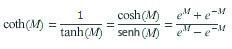Equação COTH