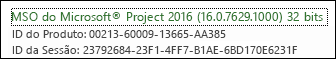 Número do build do Cliente de Desktop do Project Online