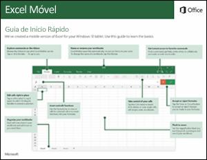 Guia de Início Rápido do Excel Mobile