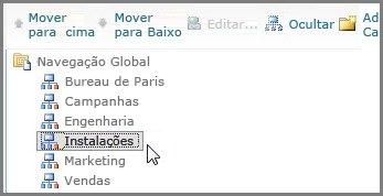 Mover Navegação Global