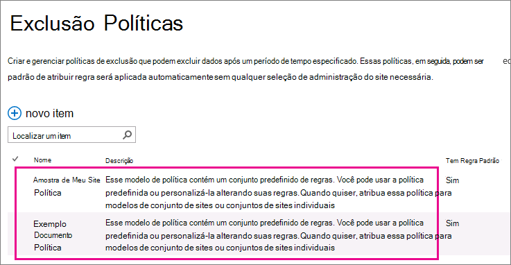 Modelos de política