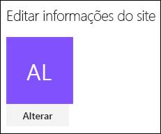Captura de tela mostrando a caixa de diálogo para alterar o logotipo do site do SharePoint.