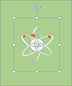 Modelo 3D mostrando as alças de rotação