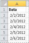 Datas convertidas