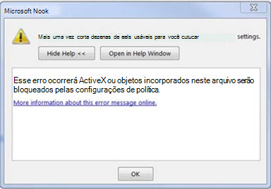Erro do Outlook