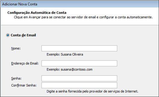 Outlook 2010 adicionar nome e endereço de email