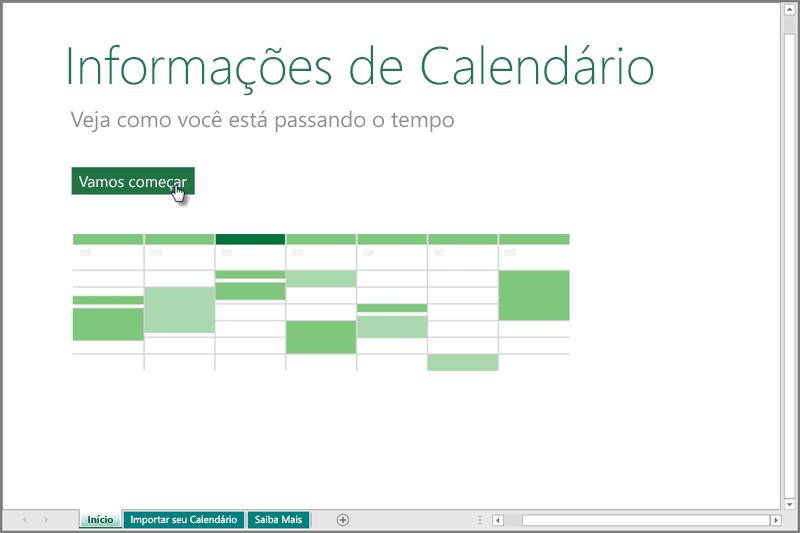 Modelo Informações de Calendário