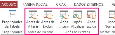 Adicionar macro de dados controlada por evento