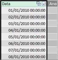 Coluna de data no Power Pivot