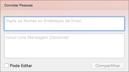 Compartilhar Convite do PPT para Mac