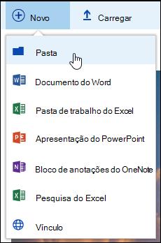 Nova pasta de biblioteca de documentos
