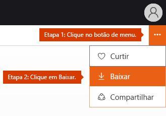 Opção do menu download no Docs.com