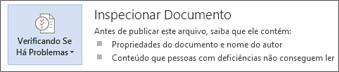 Inspecionar documento no Word 2013