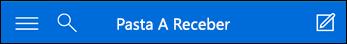 Navegação superior para Minibarra Outlook Web App