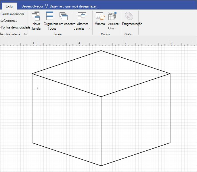 Desenhe a forma manualmente usando a ferramenta linha.