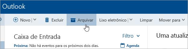Uma captura de tela do botão Arquivar
