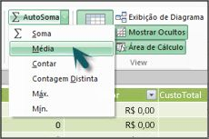 AutoSoma no PowerPivot