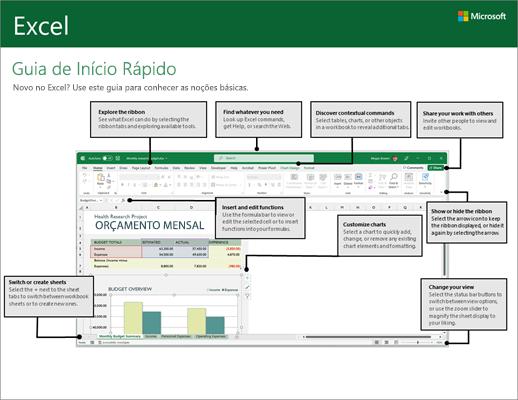 Guia de Início Rápido do Excel 2016 para Windows
