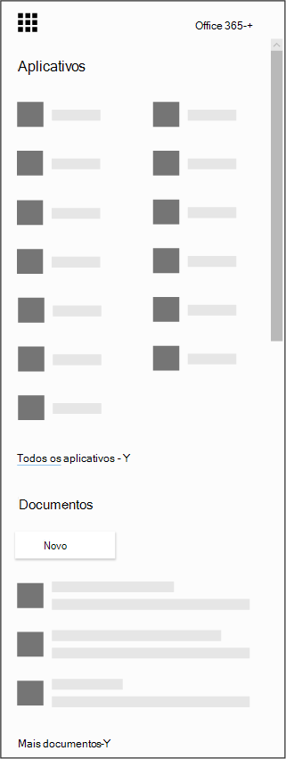Inicializador de aplicativos do Office 365
