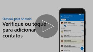 Miniatura de vídeo de Adição de contatos: clique para reproduzir