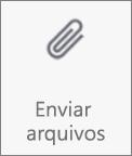 Botão Enviar arquivos no OneDrive para Android