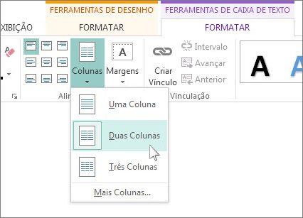 Criar publicação de duas colunas