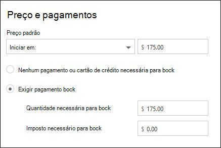 Captura de tela: representando pagamento necessário para o serviço