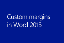 Margens personalizadas no Word 2013