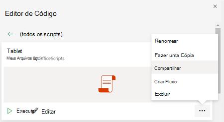 Office Menu de contexto de script