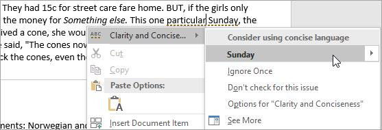 Mostrando erro de estilo de redação