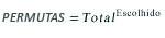Equação de PERMUTAS