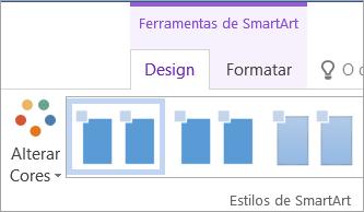 Botão Alterar Cores na guia Design de Ferramentas SmartArt