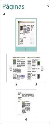 Painel Navegação de Página mostrando visualizações em página única e em duas páginas.