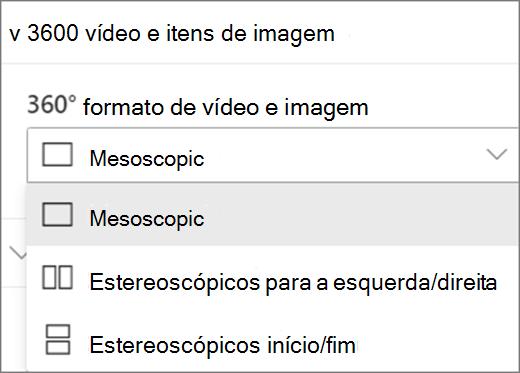 360 vídeo e 360 formato de imagem