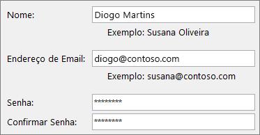 Início Rápido para funcionários: Criar uma conta de email do Outlook
