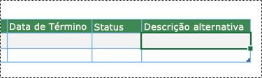Captura de tela da criação de diagrama do Visualizador de Dados no Excel