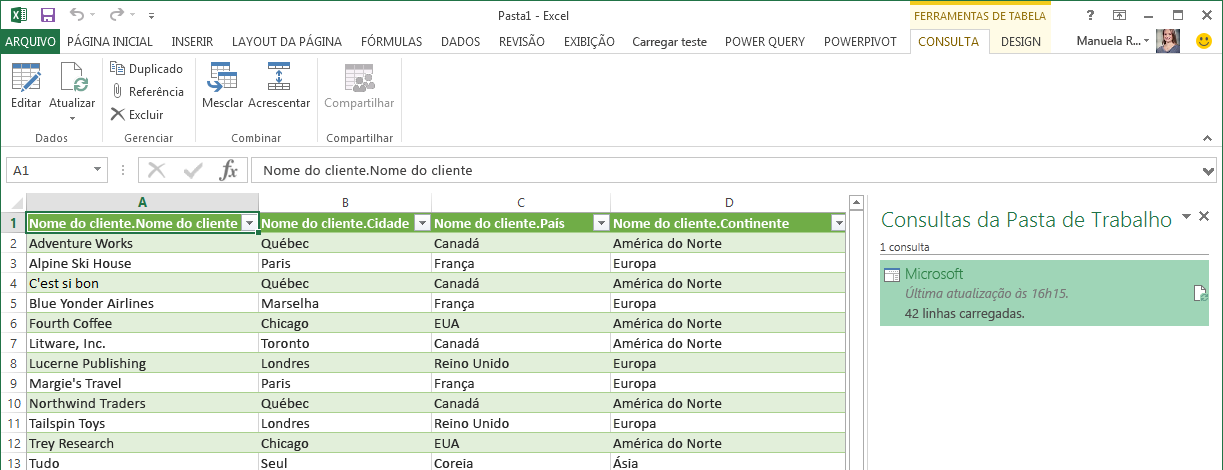Faixa de opções de consulta SAP