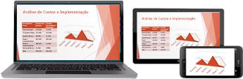 Iniciar uma reunião online a partir do PowerPoint