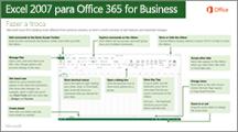 Miniatura do guia para mudar do Excel 2007 para o Office 365