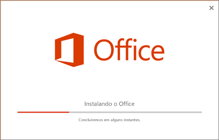 O instalador parece estar instalando o Office, mas está instalando apenas o Skype for Business.