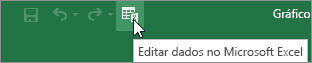 Editar Dados no ícone do Microsoft Excel na Barra de Ferramentas de Acesso Rápido