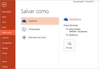 Salvar no meu OneDrive